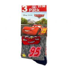 Σετ Παιδικές Κάλτσες 3 Ζευγάρια Pack 1 Cars Disney HQ0727