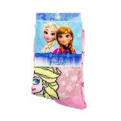 Σετ Παιδικές Κάλτσες 3 Ζευγάρια Χρώματος Ροζ Pack 2 Frozen Disney HQ0821