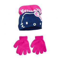 Βρεφικό Σετ Σκουφάκι και Γάντια Χρώματος Φούξια Hello Kitty Disney NH4326
