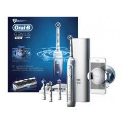 Επαναφορτιζόμενη Ηλεκτρική Οδοντόβουρτσα Oral-B Genius 9000 Χρώματος Λευκό
