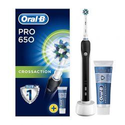 Επαναφορτιζόμενη Ηλεκτρική Οδοντόβουρτσα Oral-B Pro 650 Cross Action και Οδοντόκρεμα