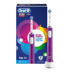 Επαναφορτιζόμενη Ηλεκτρική Παιδική Οδοντόβουρτσα Oral-B Junior 6+ Ετών Χρώματος Μωβ