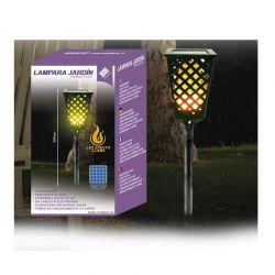 Ηλιακό Φωτιστικό με LED Εφέ Φλόγας GEM BN4891