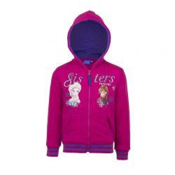 Παιδική Ζακέτα Φούτερ με Κουκούλα Χρώματος Φούξια Frozen Disney AHQ1112