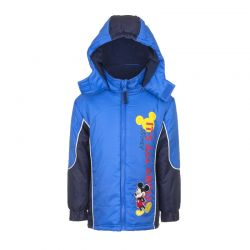 Παιδικό Μπουφάν Χρώματος Μπλε Mickey Disney HO1031