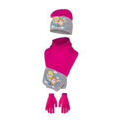 Παιδικό Σετ Σκούφος - Κασκόλ και Γάντια Χρώματος Φούξια Frozen Disney HO4093