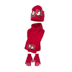 Παιδικό Σετ Σκούφος - Κασκόλ και Γάντια Χρώματος Κόκκινο Spiderman Disney HM4153