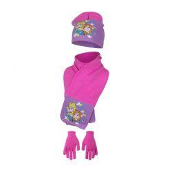 Παιδικό Σετ Σκούφος - Κασκόλ και Γάντια Χρώματος Μωβ Frozen Disney HO4093