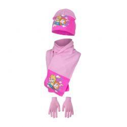Παιδικό Σετ Σκούφος - Κασκόλ και Γάντια Χρώματος Ροζ Frozen Disney HO4093