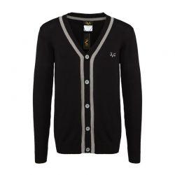 Ανδρική Πλεκτή Ζακέτα Versace 1969 Χρώματος Μαύρο C105