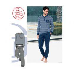 Ανδρική Χειμωνιάτικη Πυτζάμα Sergio Tacchini Χρώματος Jeans - Μπλε PG27350AS2