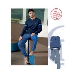 Ανδρική Χειμωνιάτικη Πυτζάμα Sergio Tacchini Χρώματος Σκούρο Μπλε - Μπλε PG27328AS2