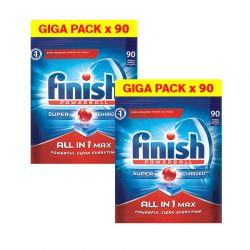 Απορρυπαντικό Πλυντηρίου Πιάτων Finish All In 1 Max Regular 180 Ταμπλέτες Finish-Allinone-180