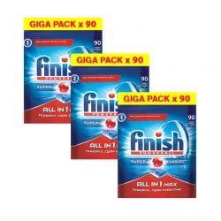 Απορρυπαντικό Πλυντηρίου Πιάτων Finish All In 1 Max Regular 270 Ταμπλέτες Finish-Allinone-270
