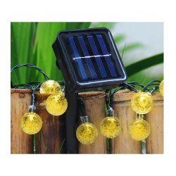 Ηλιακή Γιρλάντα Φωτισμού LED με 30 Λαμπτήρες Globrite CrystalBulb