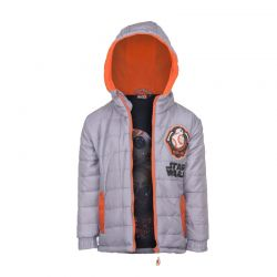 Παιδικό Μπουφάν Χρώματος Γκρι Star Wars Disney DHQ1154