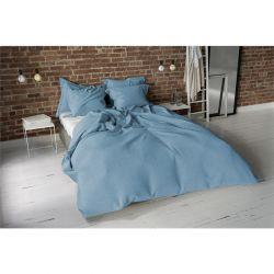 Σετ Διπλή Παπλωματοθήκη με Μαξιλαροθήκες 200 x 200 cm Pierre Cardin Stone Washed Χρώματος Ice Blue