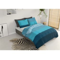 Σετ Υπέρδιπλη Παπλωματοθήκη με Μαξιλαροθήκες 220 x 240 cm Pierre Cardin Waves Χρώματος Μπλε