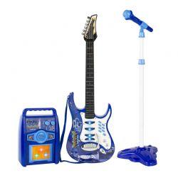 Σετ Παιδική Κιθάρα με Τρίποδο Μικρόφωνο και Ενισχυτή SPM 1554