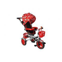 Τρίκυκλο Παιδικό Ποδήλατο - Καρότσι 3 σε 1 Kruzzel Χρώματος Κόκκινο