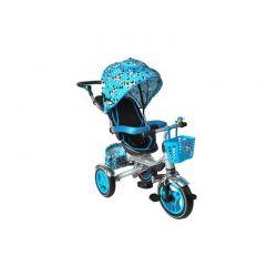 Τρίκυκλο Παιδικό Ποδήλατο - Καρότσι 3 σε 1 Kruzzel Χρώματος Μπλε