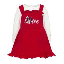 Βρεφικό Σετ 2 Τμχ Χρώματος Κόκκινο Minnie Disney AHQ0220