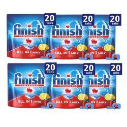 Απορρυπαντικό Πλυντηρίου Πιάτων Finish All In 1 Max Λεμόνι 120 Ταμπλέτες Finish-Tabs-LMN 6PCS