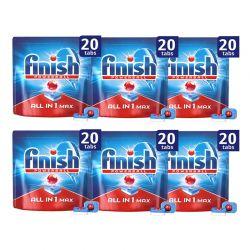 Απορρυπαντικό Πλυντηρίου Πιάτων Finish All In 1 Max Regular 120 Ταμπλέτες Finish-Tabs-R 6PCS
