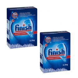 Ειδικό Αλάτι Πλυντηρίου Πιάτων Finish 2.5 Kg 2 τμχ Finish-Salt-2PCS