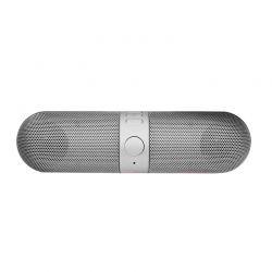 Φορητό Ασύρματο Ηχείο Bluetooth με USB Χρώματος Ασημί Aquarius R164855