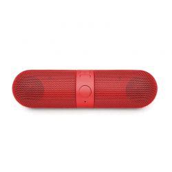 Φορητό Ασύρματο Ηχείο Bluetooth με USB Χρώματος Κόκκινο Aquarius R159416