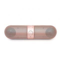 Φορητό Ασύρματο Ηχείο Bluetooth με FM Radio και USB Χρώματος Ροζ - Χρυσό Aquarius R159414