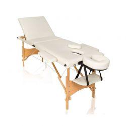 Φορητό Ξύλινο Αναδιπλούμενο Επαγγελματικό Κρεβάτι - Κλίνη Μασάζ Φυσικοθεραπείας 3 Ζωνών με Τσάντα Μεταφοράς Hoppline HOP1000722