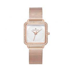 Γυναικείο Ρολόι Χρώματος Ροζ - Χρυσό με Μεταλλικό Μπρασελέ και Κρύσταλλα Swarovski® Timothy Stone Quartet Collection Q-011-ALRG