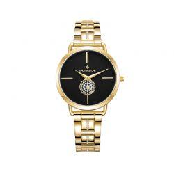 Γυναικείο Ρολόι Χρώματος Χρυσό με Μεταλλικό Μπρασελέ και Κρύσταλλα Swarovski® Timothy Stone Riviera Collection R-012-ALGD