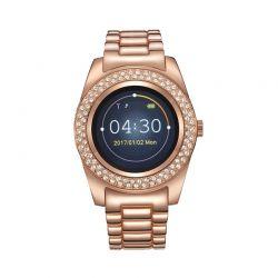 Γυναικείο Smartwatch Χρώματος Ροζ - Χρυσό με Μεταλλικό Μπρασελέ και Κρύσταλλα Swarovski® Timothy Stone SW-011-ALRG