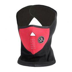 Αντιανεμική Μάσκα Προσώπου Neoprene Fleece με Ρυθμιζόμενη Εισροή Αέρα Χρώματος Κόκκινο Hoppline HOP1000662-3