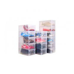 Σετ Διάφανα Πλαστικά Κουτιά για Παπούτσια 30 x 18 x 9.5 cm 5 τμχ MWS586