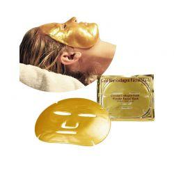 Σετ Gold Gel Μάσκα Προσώπου με Κολλαγόνο για Αντιγήρανση και Σύσφιξη 5 τμχ HOP1000419