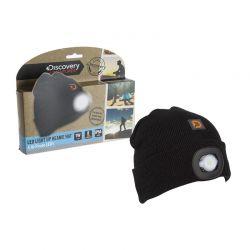Σκούφος Για Ενήλικες με Ενσωματωμένο Φακό LED Discovery Adventures Χρώματος Μαύρο