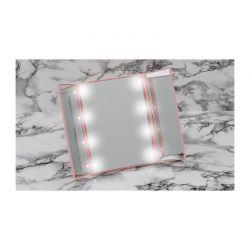 Τριπλός Φορητός Καθρέπτης Ταξιδίου με Οθόνη Αφής LED και Βάση GloBrite Χρώματος Ροζ VL2027