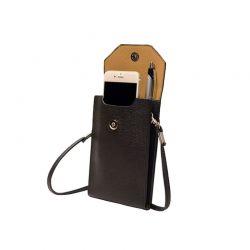 Τσάντα - Θήκη Κινητού Cross Body Χρώματος Μαύρο PhonePurse-Black