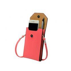 Τσάντα - Θήκη Κινητού Cross Body Χρώματος Ροζ SPM PhonePurse-Pink