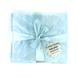Βρεφική Κουβέρτα 100 x 70 cm Χρώματος Μπλε MWS15053