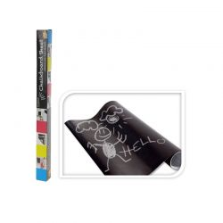 Αυτοκόλλητος Μαυροπίνακας Βινυλίου σε Ρολό με 5 Κιμωλίες 200 x 45 cm Hoppline HOP1000138