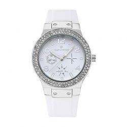 Γυναικείο Ρολόι με Λευκό Λουράκι Σιλικόνης Timothy Stone Falcon Sport F-016-SLWH