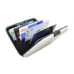 Μεταλλικό Πορτοφόλι Αλουμινίου για Πιστωτικές Κάρτες με Αντικλεπτική Προστασία RFID Χρώματος Ασημί 0940
