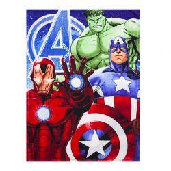 Παιδική Κουβέρτα Fleece Μονή 90 x 120 cm Χρώματος Κόκκινο Avengers Disney HQ4350