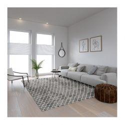 Χαλί 190 x 300 cm Χωρίς Πέλος Marakesh Grey Χρώματος Γκρι