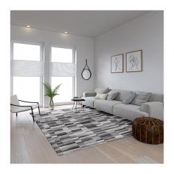 Χαλί 190 x 300 cm Χωρίς Πέλος Qube Pattern Grey Χρώματος Γκρι